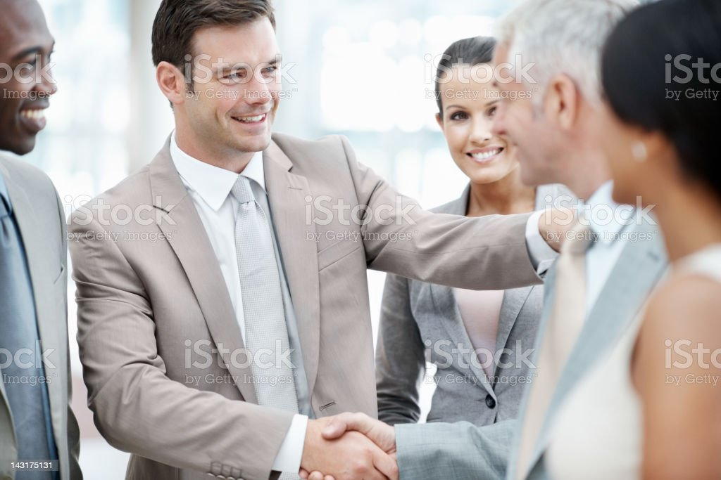 Sealing the deal royalty-free stock photo