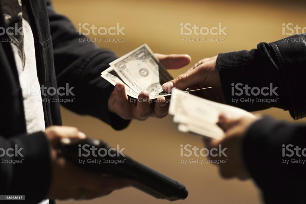 Sealing the deal stock photo