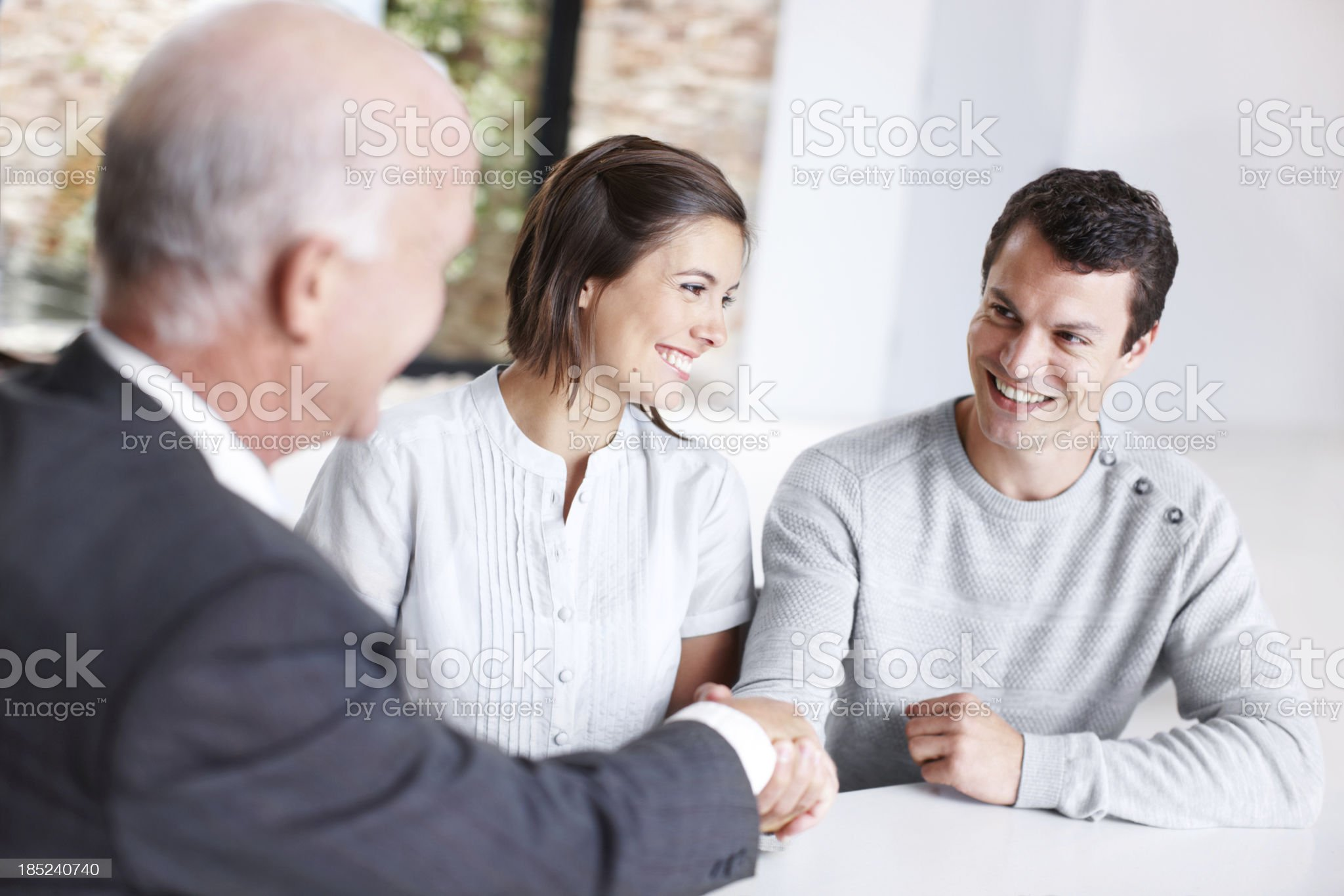 Sealing the deal with a smile royalty-free stock photo