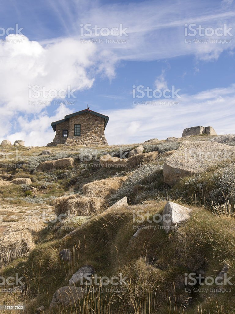 Seaman's Hut Kosciuszko NP royalty-free stock photo