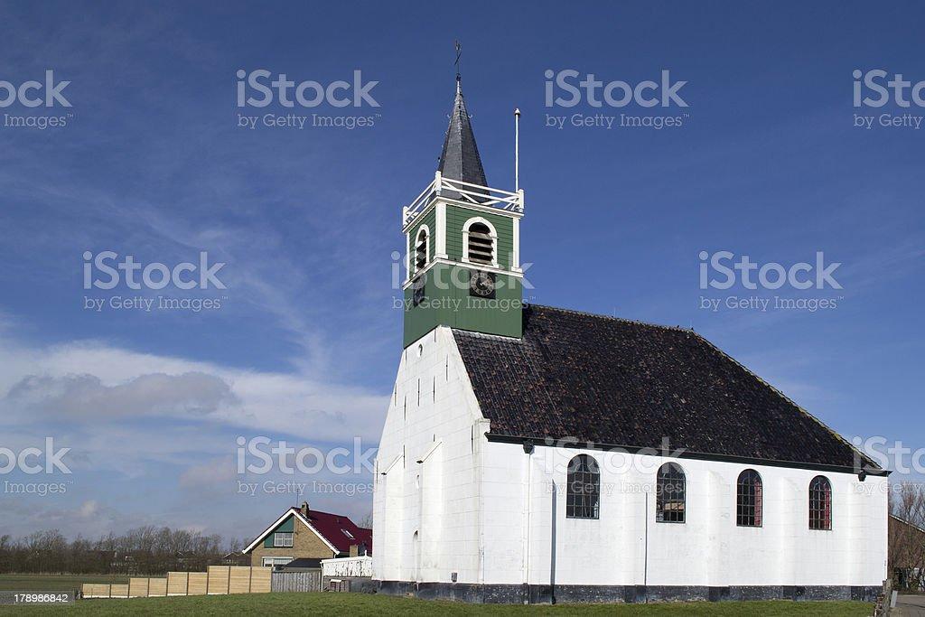 Seamen's Church in Oudeschild on Texel. stock photo