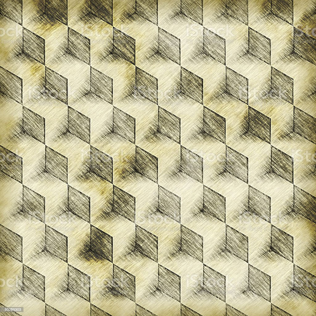 Seamless 3D Boxes Pattern royalty-free stock vector art