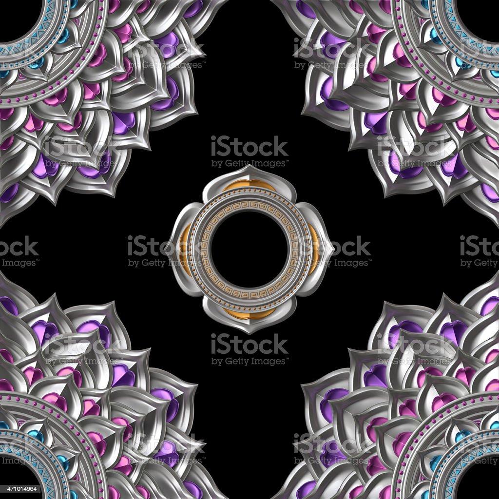 seamless abstract chakra pattern, geometric background stock photo