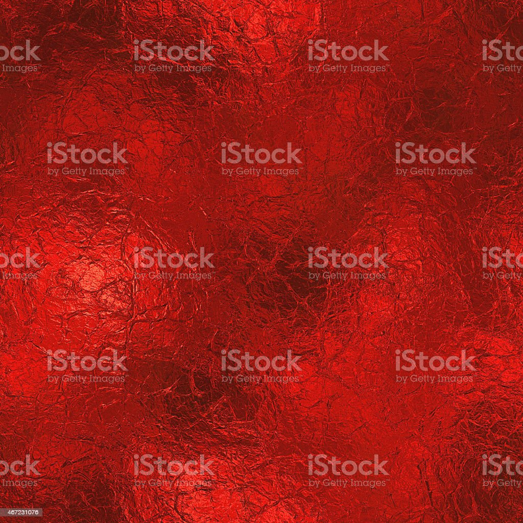 Seamless background of red foil texture stock photo