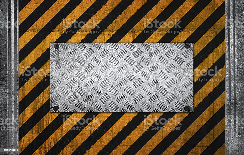 Seamless background pattern with yellow and black diagonal lines royalty-free stock photo