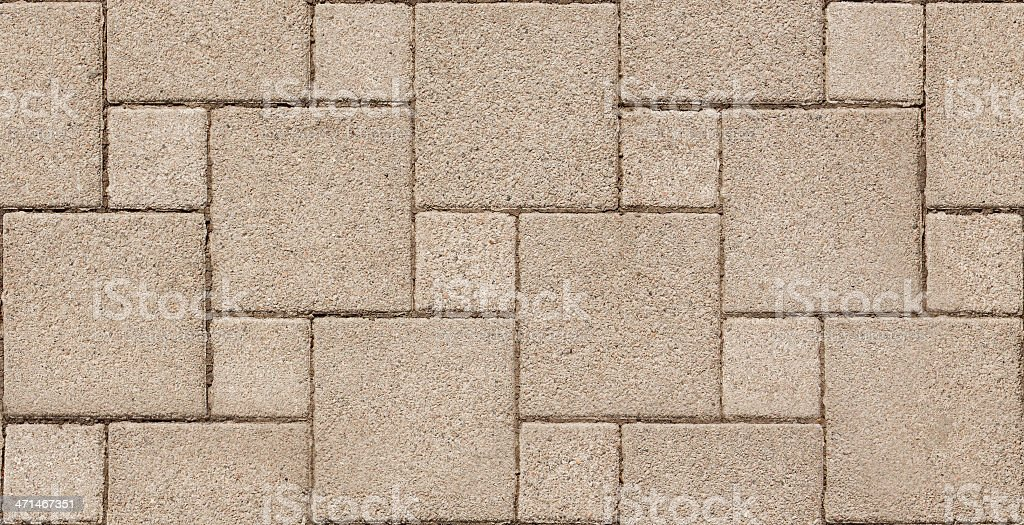 Seamless Background Paver Stone. stock photo