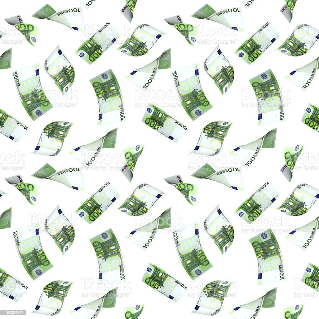Seamless background with flying euro banknotes royalty-free stock photo