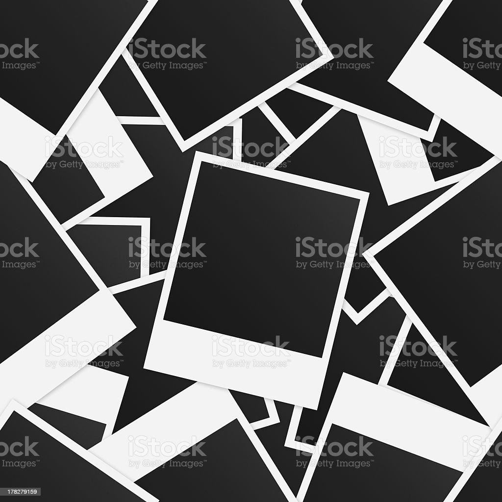 Seamless background with photo frames stock photo