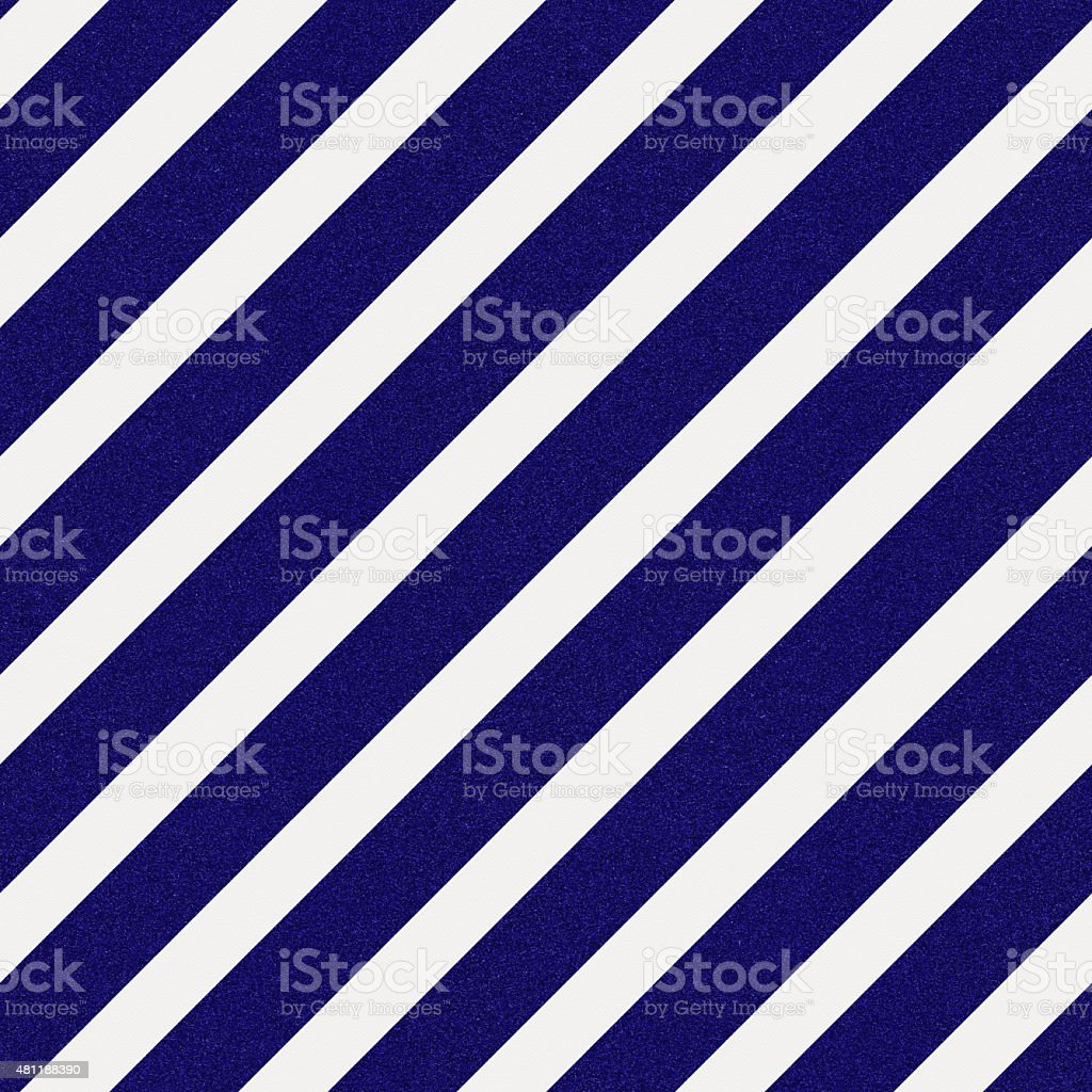 Seamless blue glitter stripes on white paper stock photo
