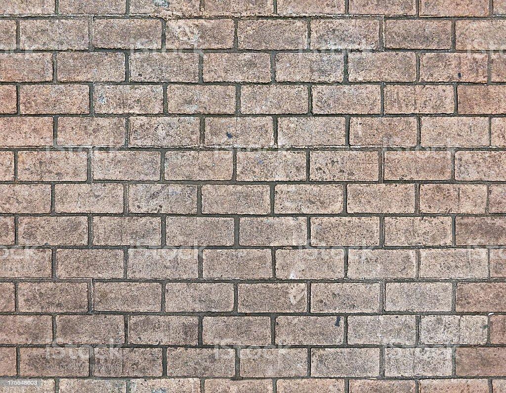 Seamless Brick Paver Pathway royalty-free stock photo