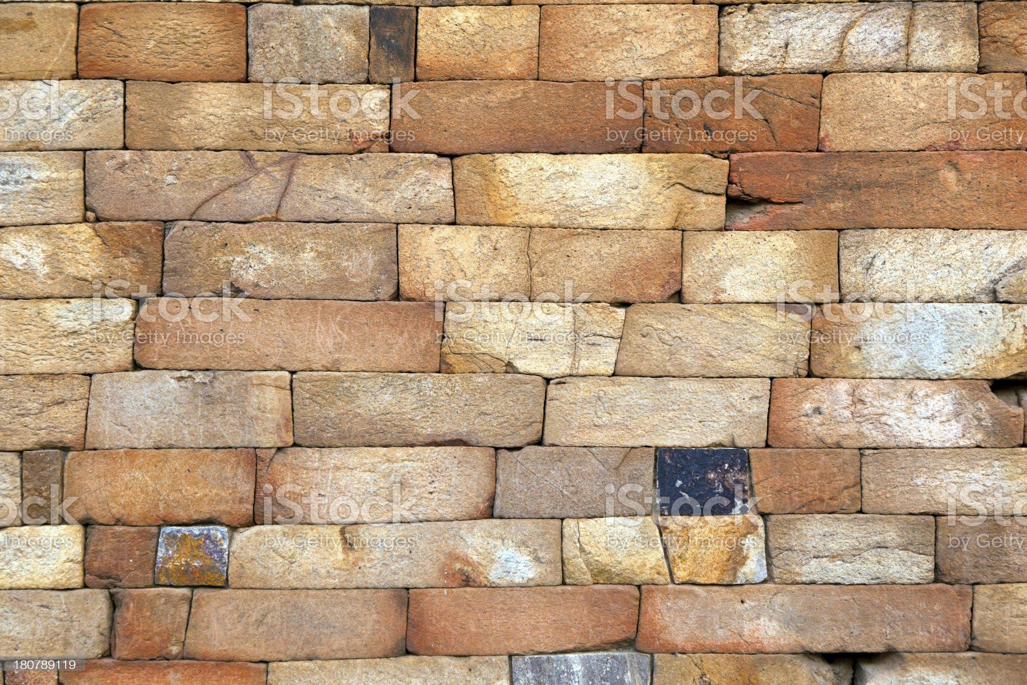 seamless bricks of an historic building QTAB Minar in Delhi royalty-free stock photo