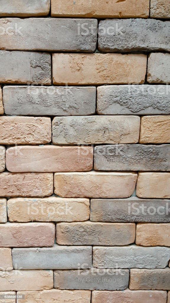 seamless bricks of an historic building QTAB Minar in Delhi stock photo