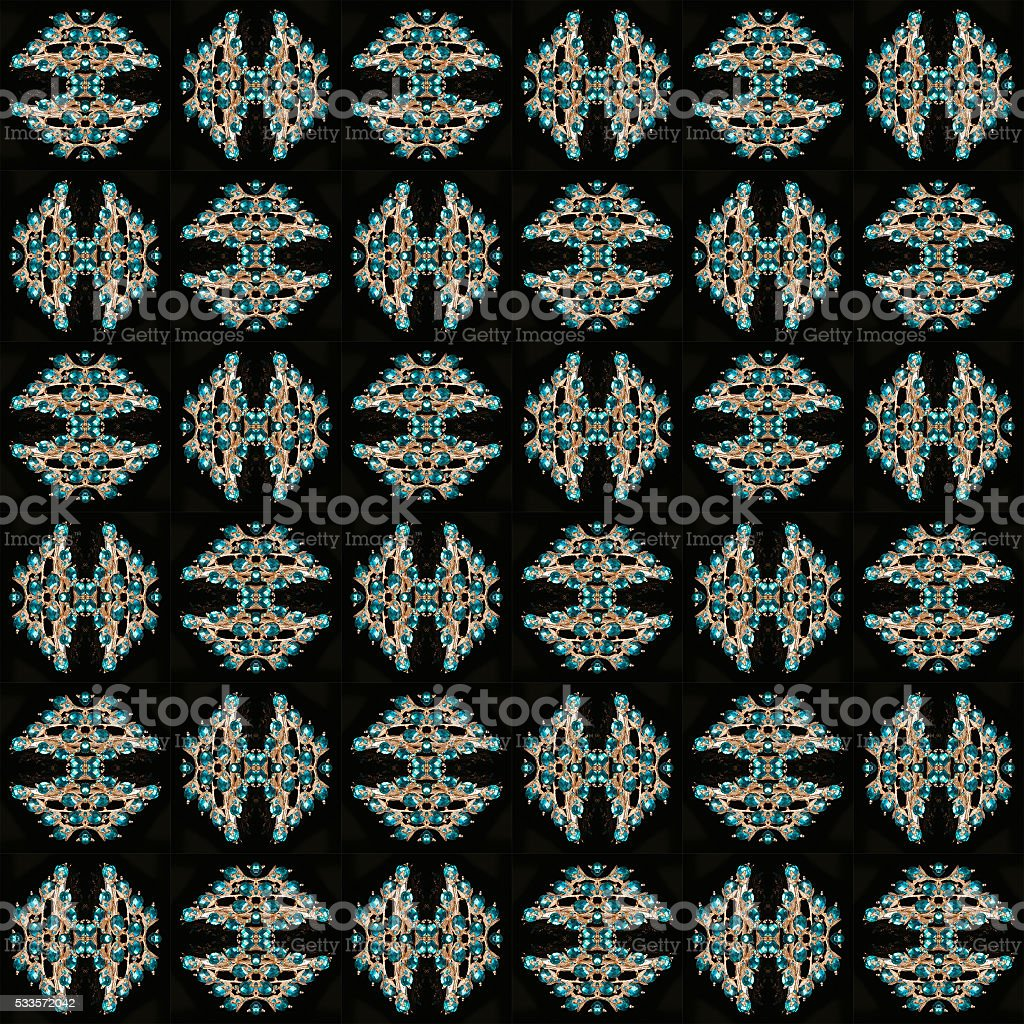 Seamless Brooch jewelry pattern, abstract simple background stock photo
