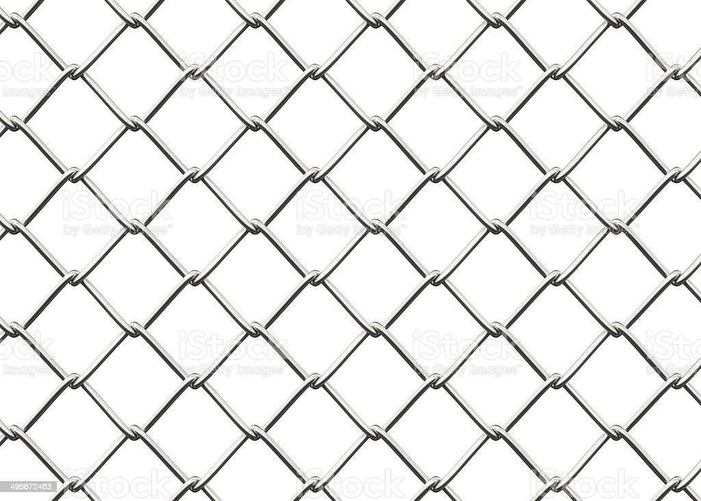 Seamless Chainlink Fence stock photo