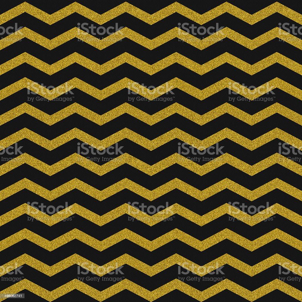 Seamless chevron glitter pattern on black paper stock photo