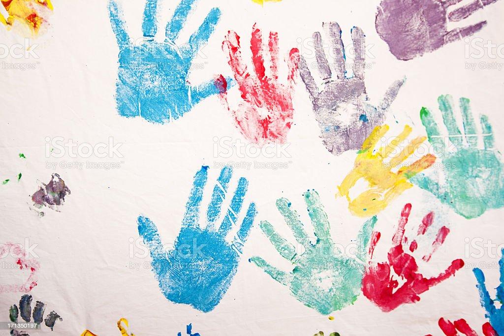 Seamless Child Hand print royalty-free stock photo