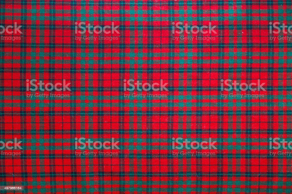 Seamless christmas background - Tartan stock photo