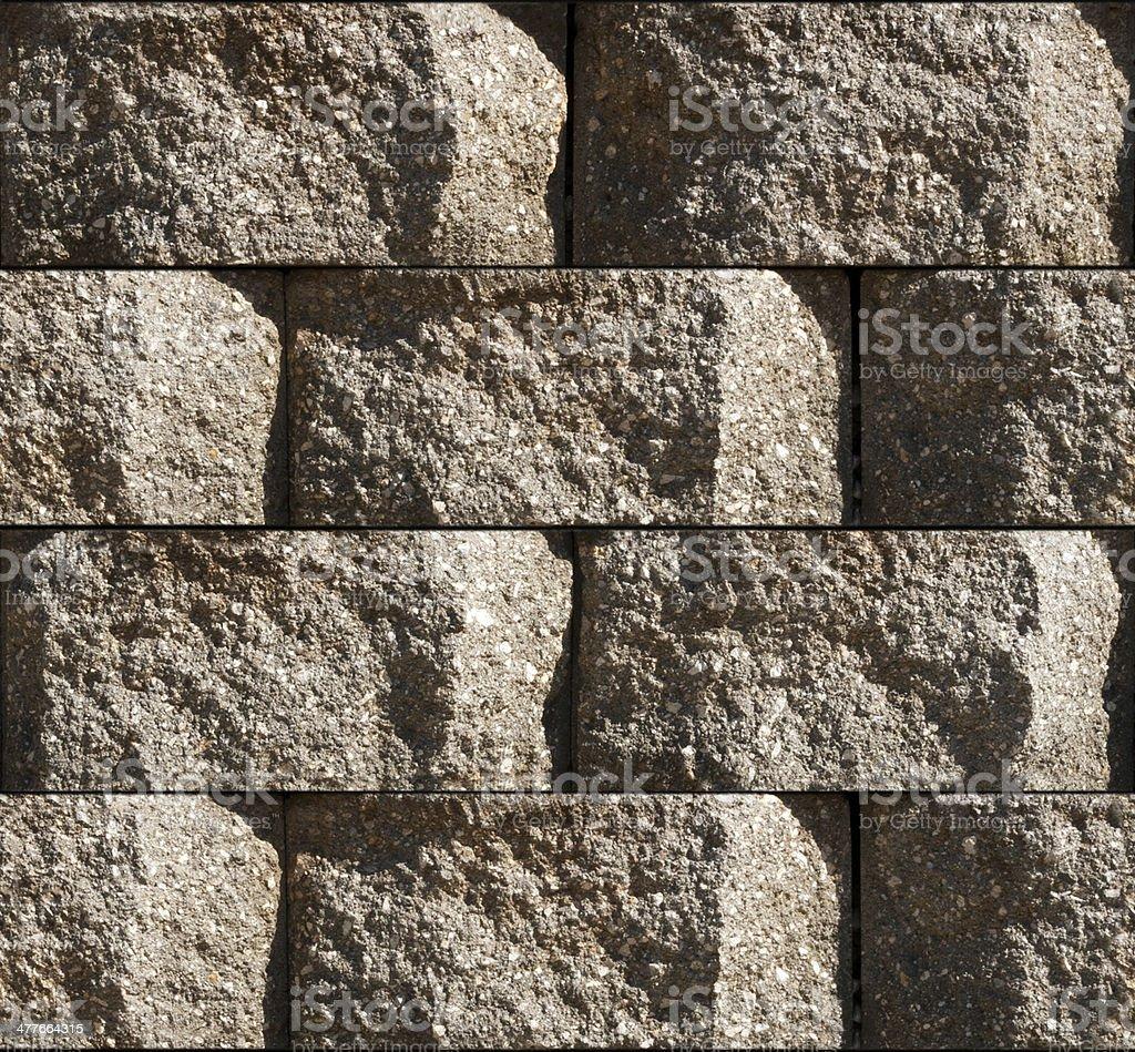 Seamless Cinderblock Background Tile royalty-free stock photo