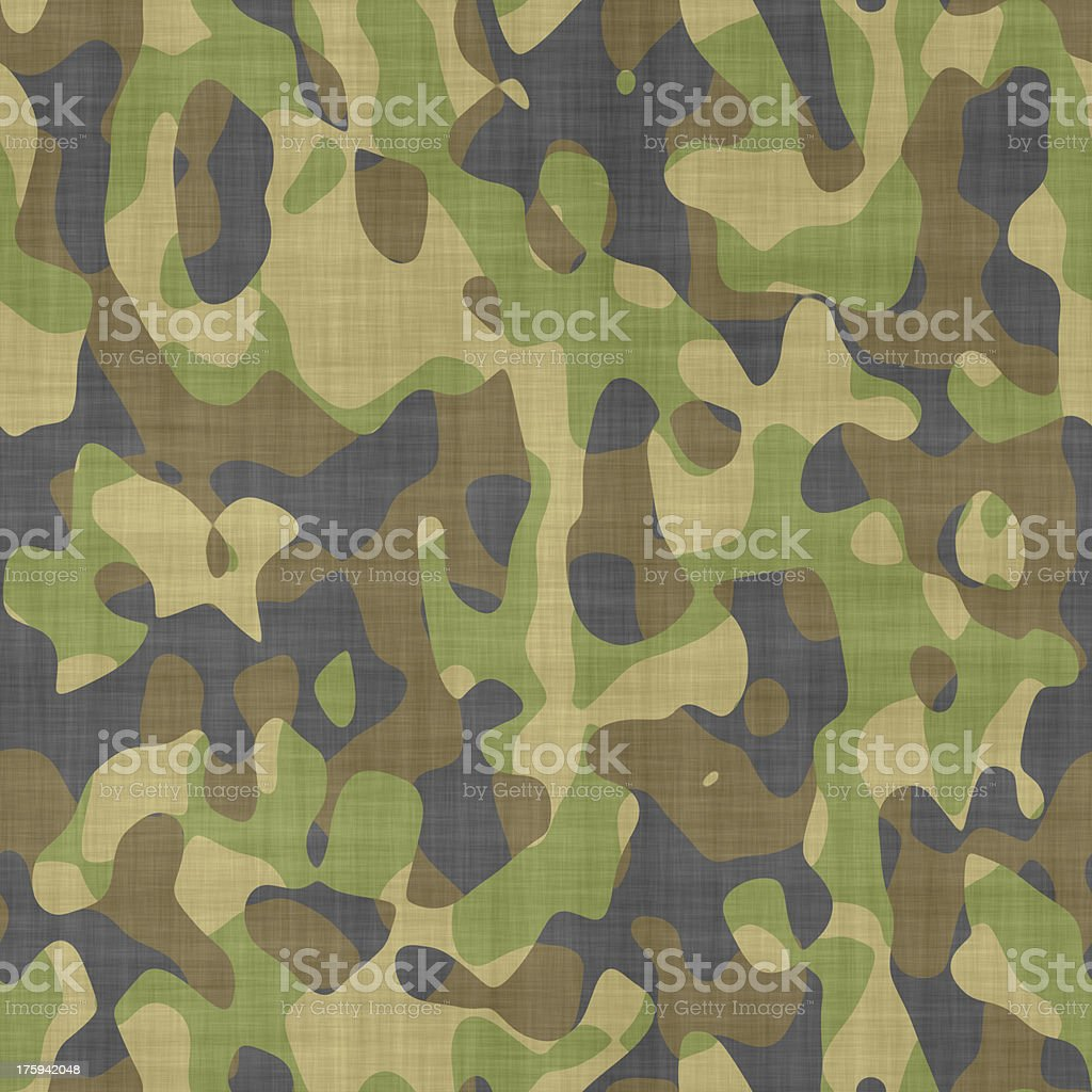 Seamless computer generated camouflage pattern stock photo
