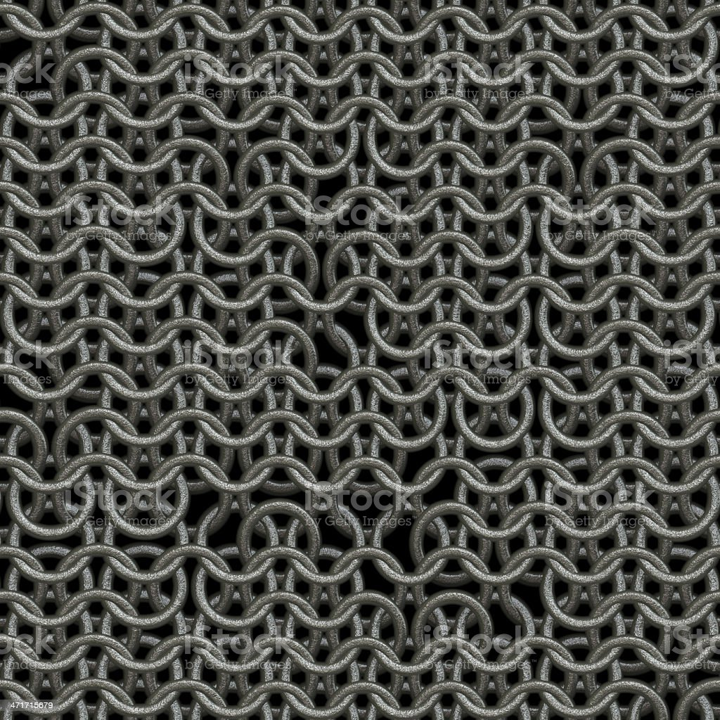 Seamless computer generated metal chain mail texture damaged royalty-free stock photo