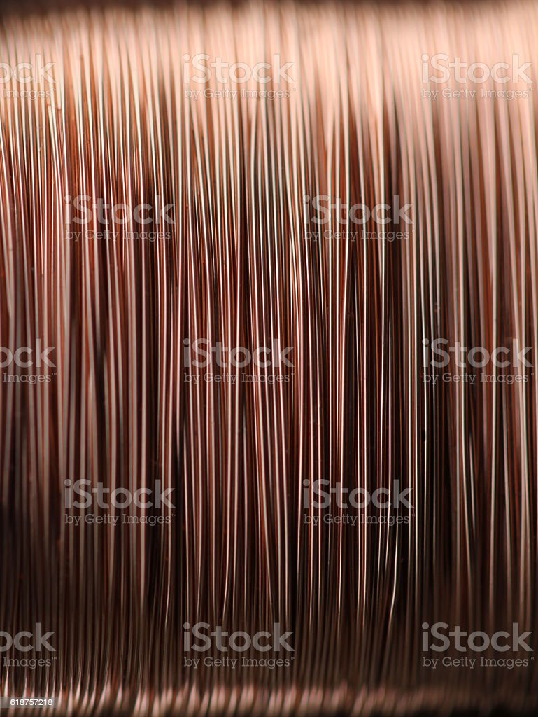 Seamless copper wire background pattern stock photo