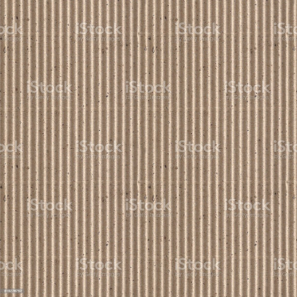 Seamless corrugated cardboard photo texture stock photo