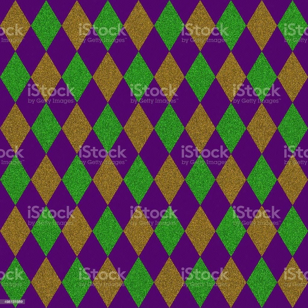 Seamless diamond glitter pattern on paper stock photo