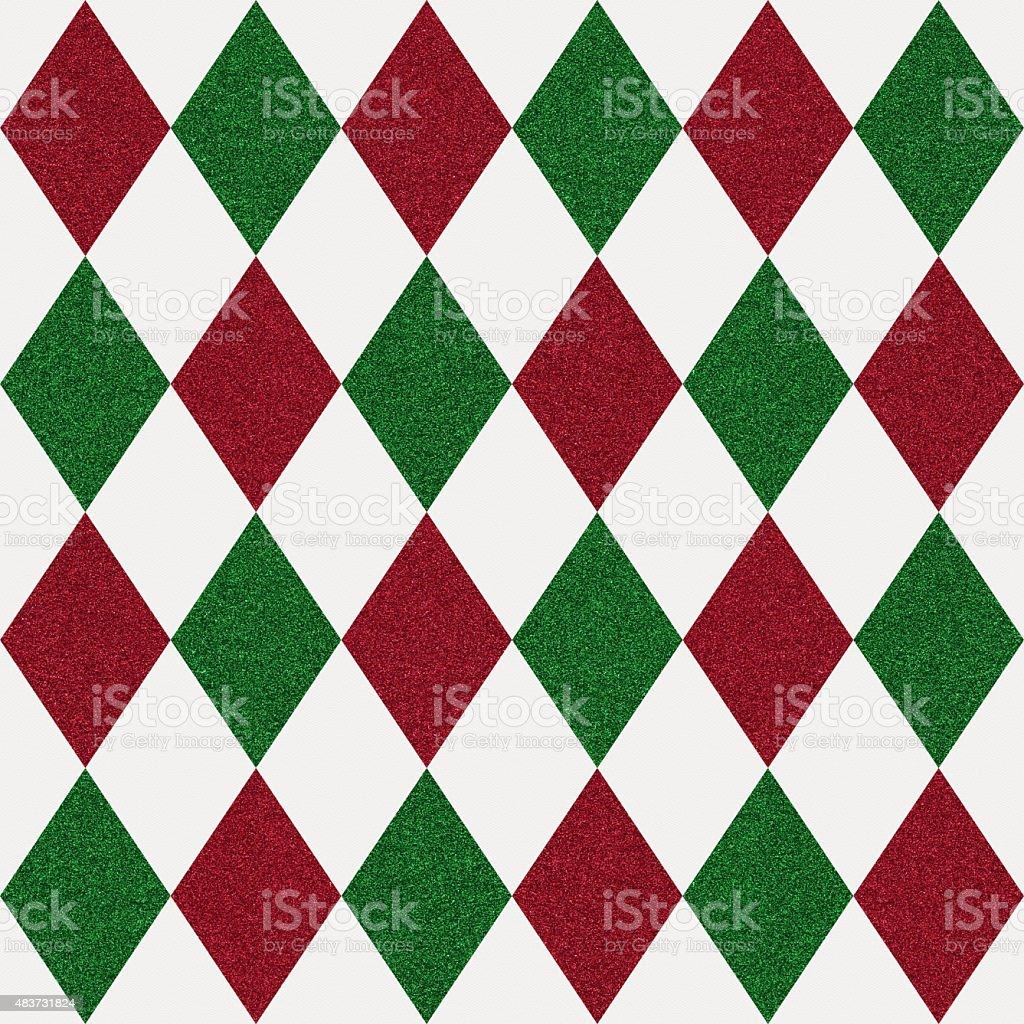 Seamless diamond glitter pattern on white paper stock photo