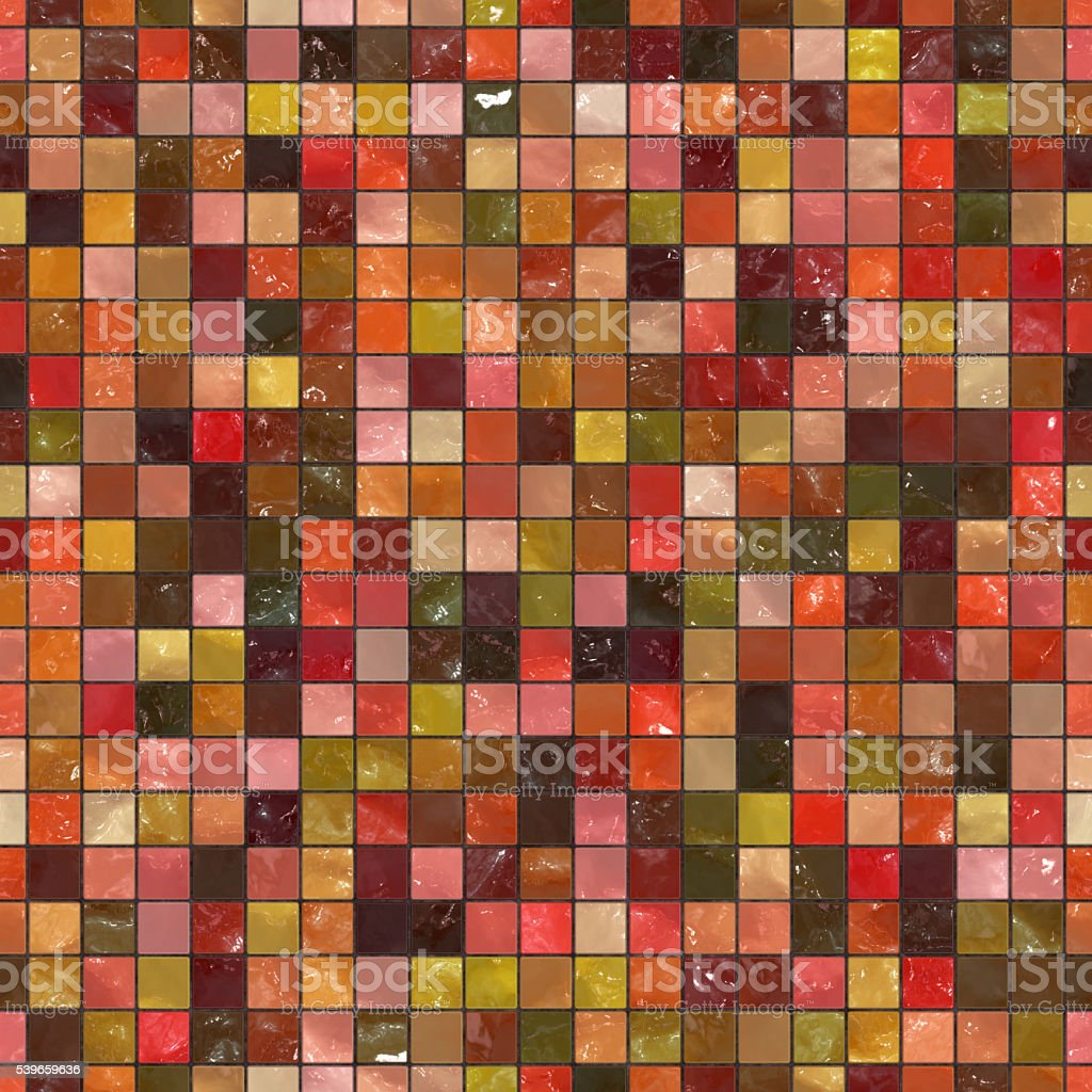 Seamless digitally created non-realistic glass tile pattern stock photo
