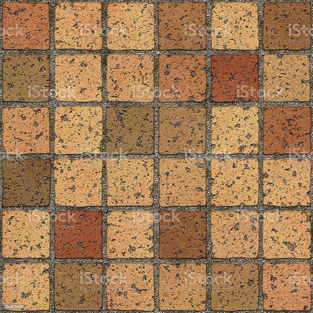 Seamless driveway tiled floor stock photo