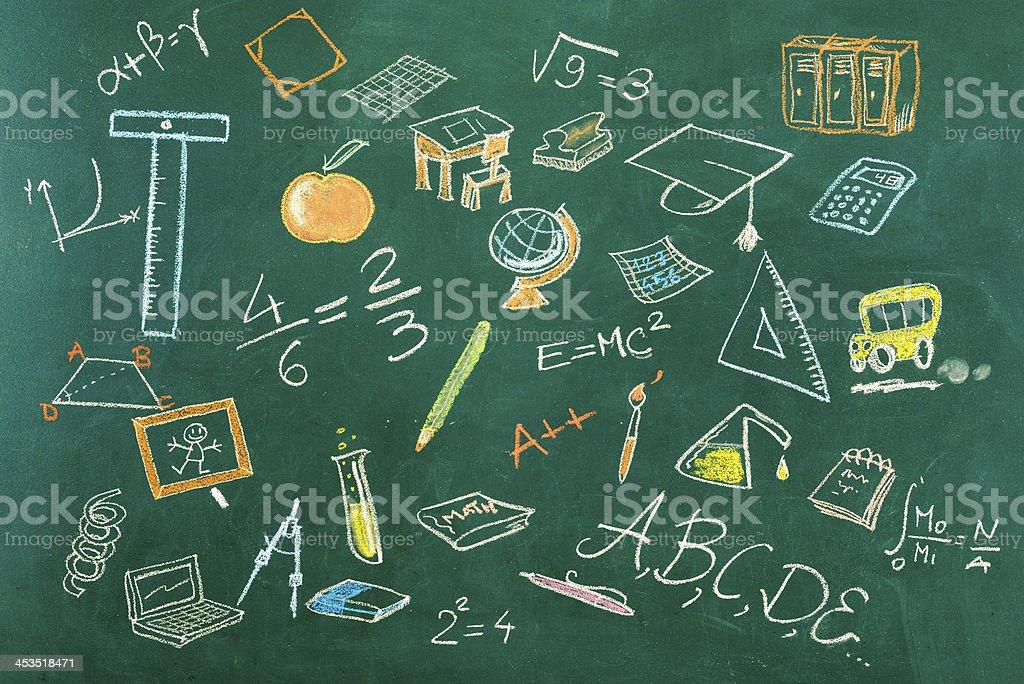 Seamless Education Background stock photo