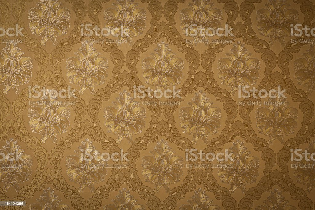 Seamless elegant floral wallpaper royalty-free stock photo
