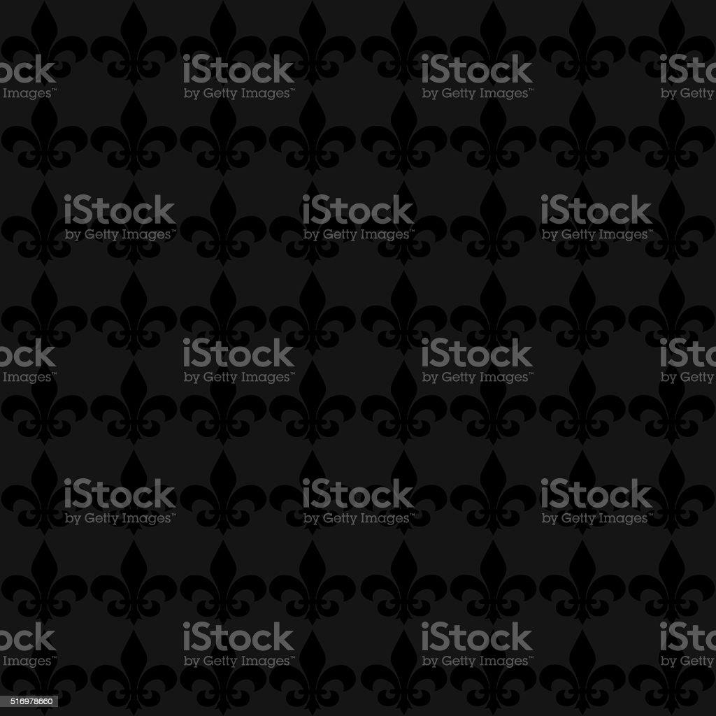 Seamless fleur de lis flower background stock photo
