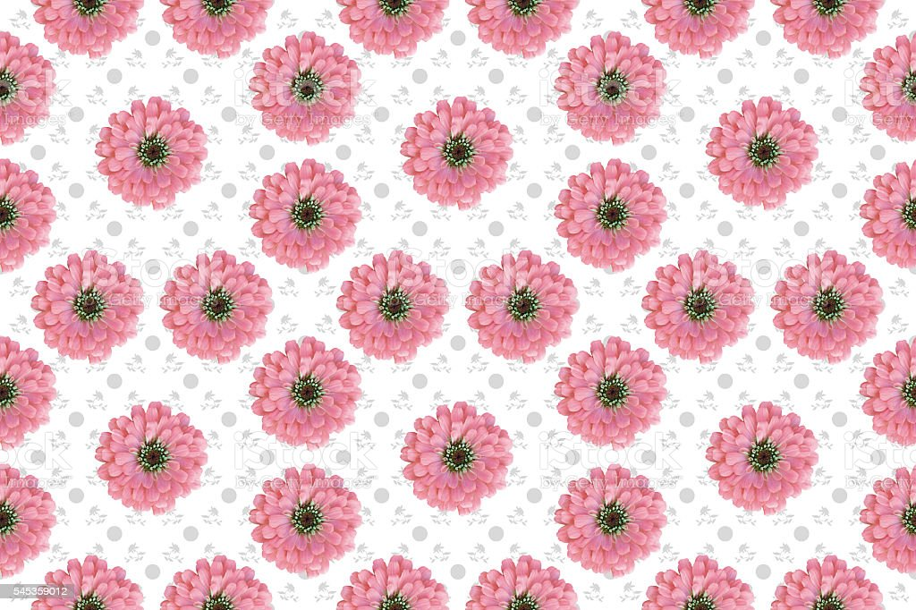 Seamless Floral pattern with pink flowers stock photo