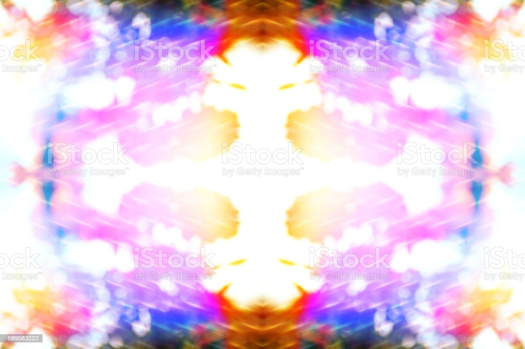 Seamless fractal surreal kaleidoscope psychedelic multi colors abstract shapes background stock photo