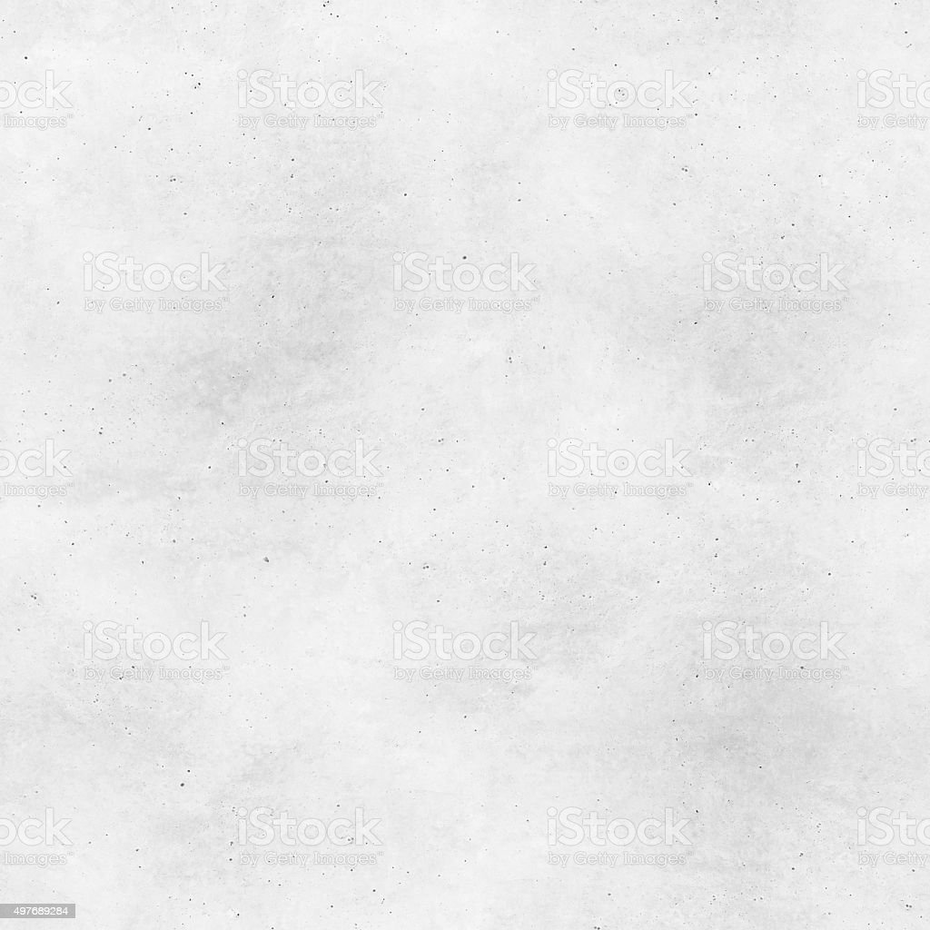 Seamless fresh unfinished worn polished white cement - concrete background stock photo