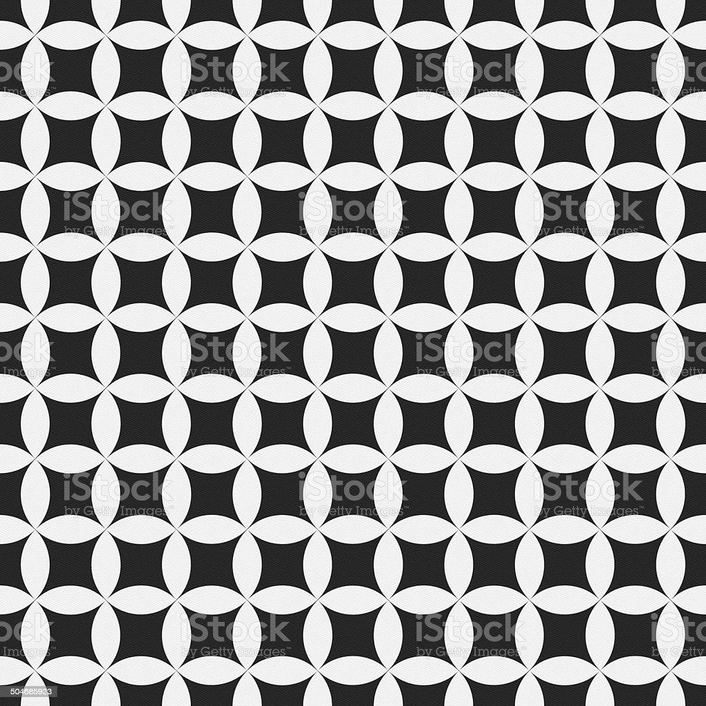 Seamless geometric circle and star pattern on paper stock photo
