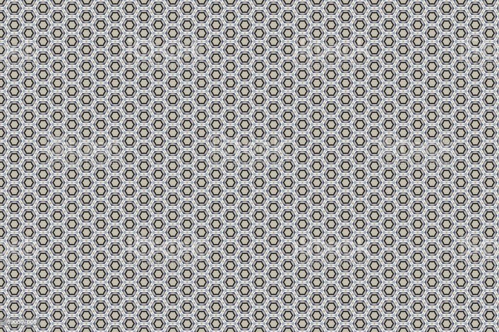 Seamless geometric pattern in op art design. stock photo