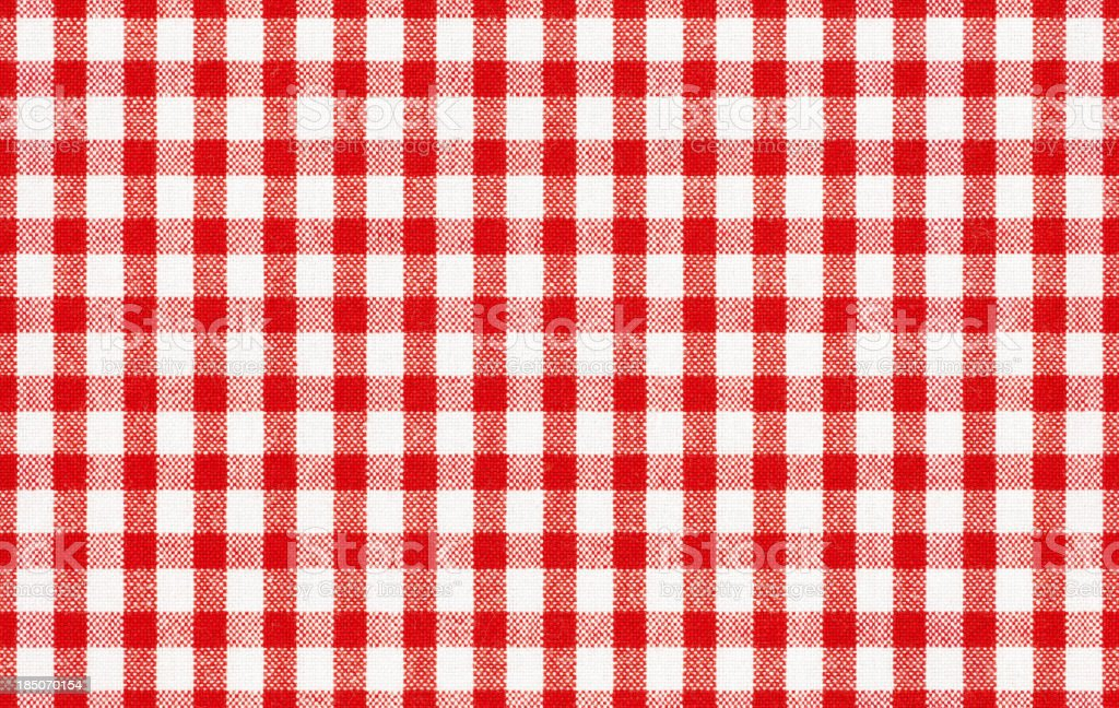 Seamless gingham tablecloth stock photo