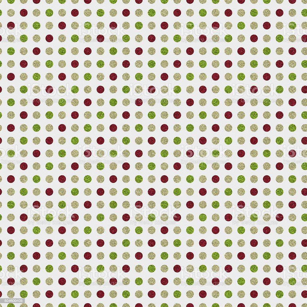 Seamless glitter dot pattern on white paper stock photo