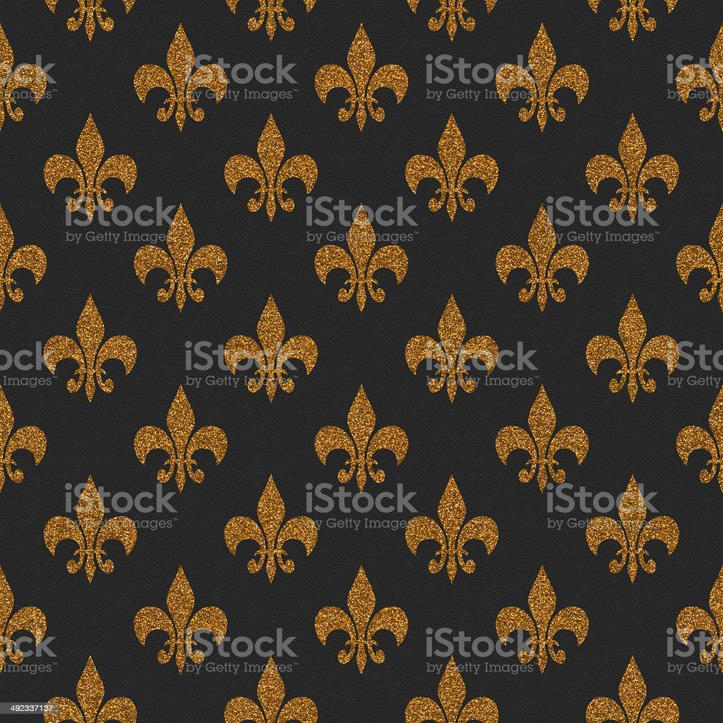 Seamless gold glitter symbol on black paper stock photo