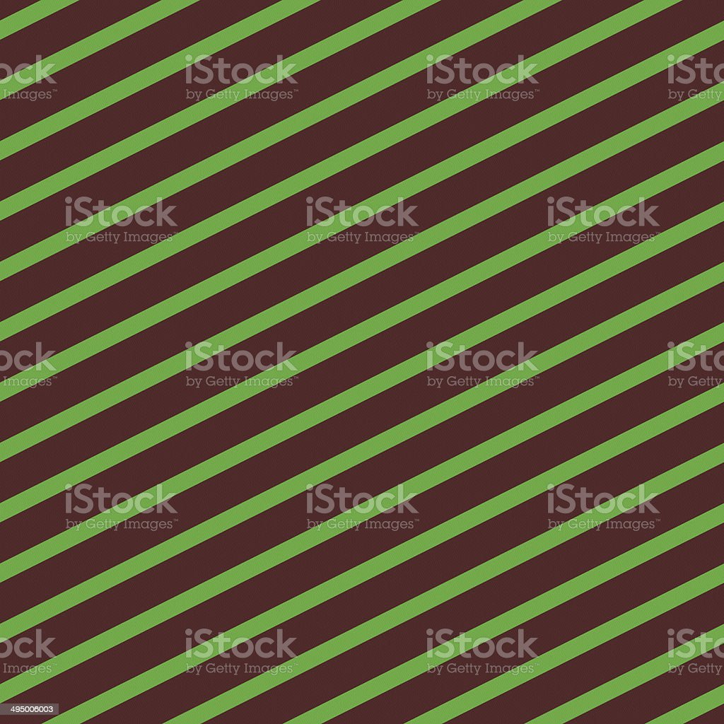 Seamless green stripe pattern on red paper royalty-free stock photo