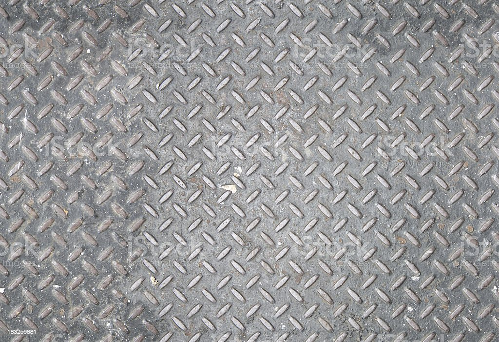 Seamless Grungy Diamondplate stock photo