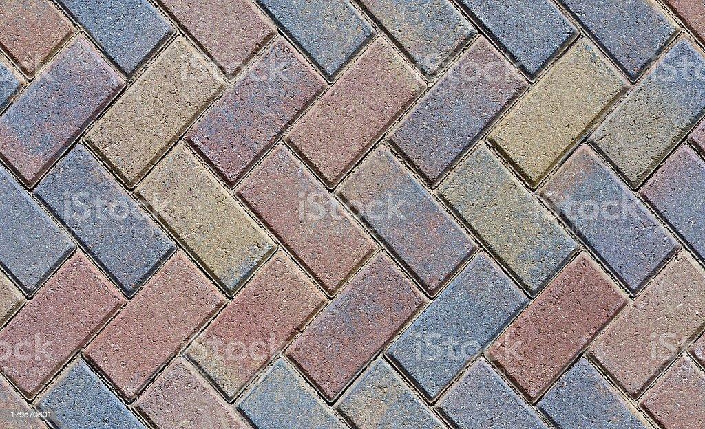 Seamless Herringbone Brick Pavers royalty-free stock photo