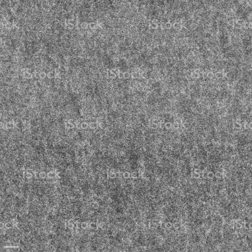 Seamless high resolution bushy, wolly, dark gray felt texture. stock photo