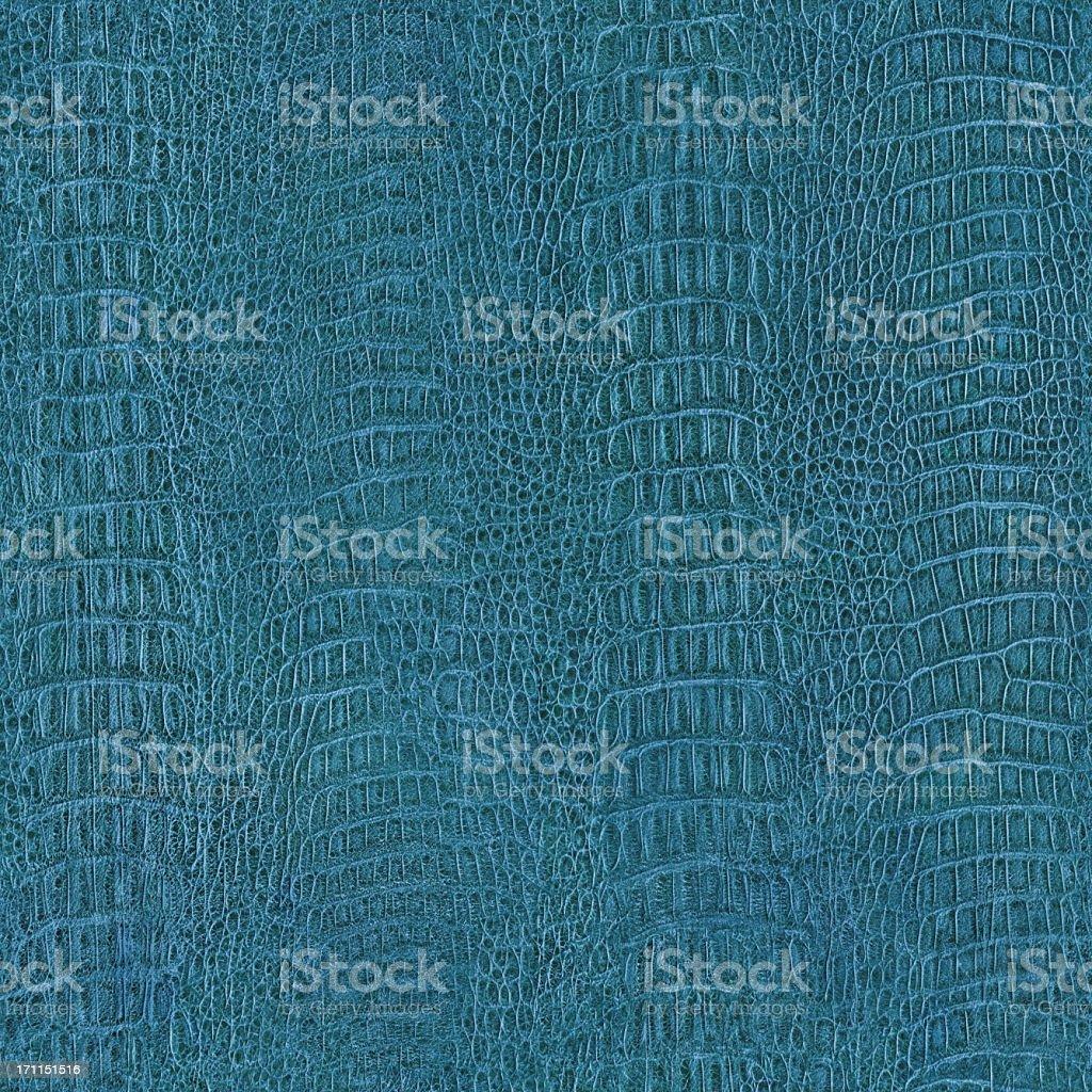 Seamless Hi-Res Crocodile Skin Blue Texture Tile royalty-free stock photo