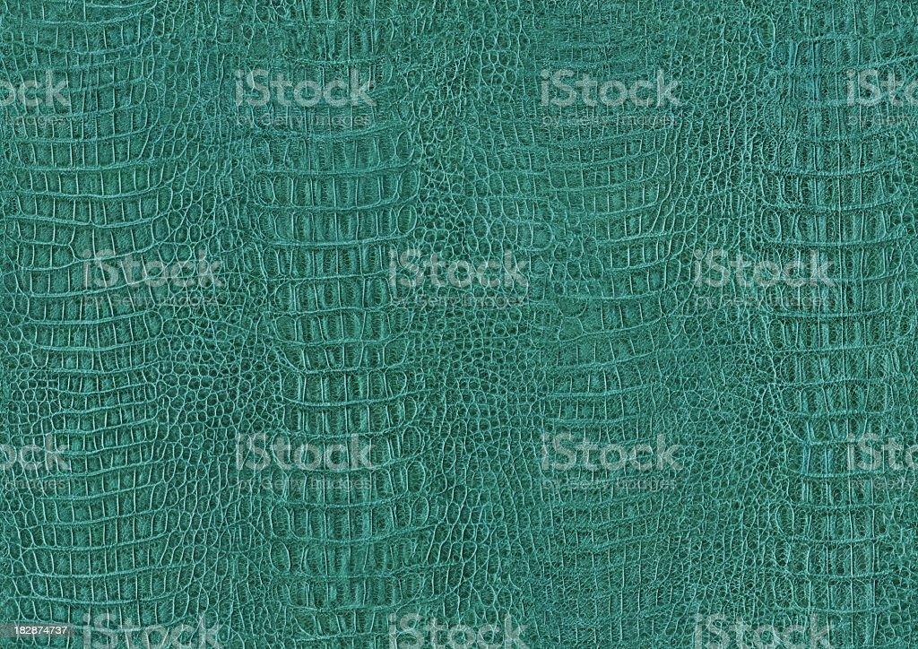 Seamless Hi-Res Crocodile (Alligator) Skin Green Texture Tile royalty-free stock photo