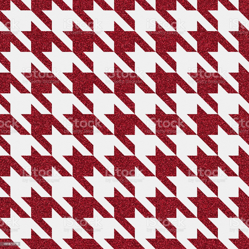 Seamless houndstooth glitter pattern on white stock photo