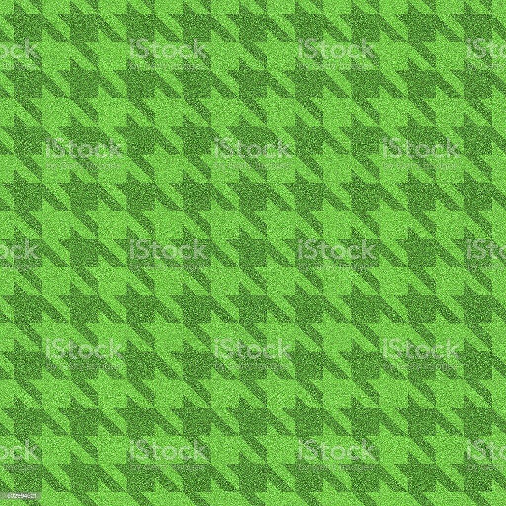 Seamless houndstooth green glitter pattern stock photo
