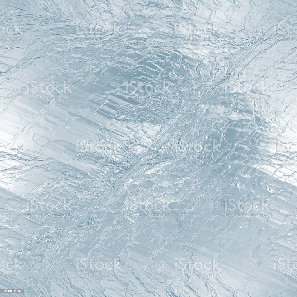 Seamless ice frozen water texture, abstract winter background stock photo